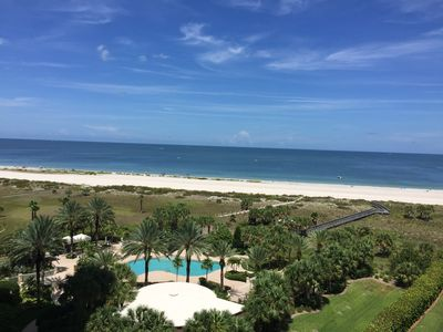 The Grande is a beachfront condo on Sand Key overlooking the Gulf of Mexico