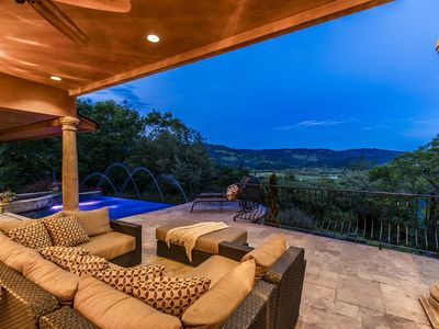 Photo for Quiet hillside wine country retreat with awesome location