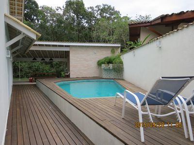 Photo for New House Ground Floor, Pool, Garden, between two rivers, beach at 250m, Market.