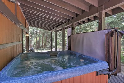 Soothe your sore muscles in the hot tub!