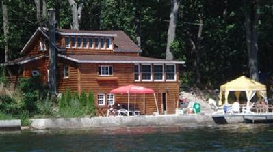 Photo for LOG CABIN ON THE WATER WITH SPECTACULER VIEWS ALL SPORT LAKE