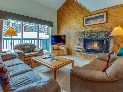 Photo for Great family condo five miles from Vail, pool/hot tub access