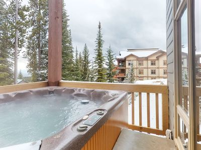 Photo for NEW LISTING! Dog-friendly ski-in/ski-out chalet w/ private hot tub & garage