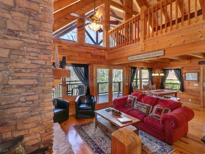 Photo for Mountaintop cabin w/ hot tub, pool table, multiple decks & incredible views!