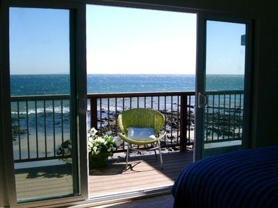 Photo for Oceanfront Malibu Beach Cottage on Private Beach