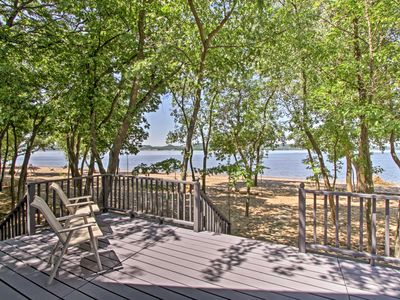 Photo for Lakefront Lake Pepin Cottage w/Deck-Steps to Beach