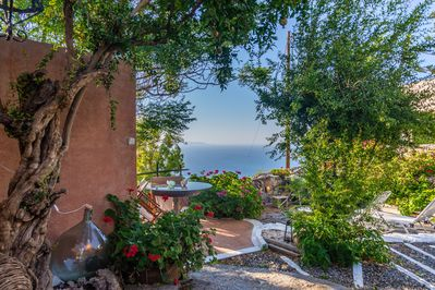 The house sits on a west facing mountain above the gulf of Mirabello with great sea views