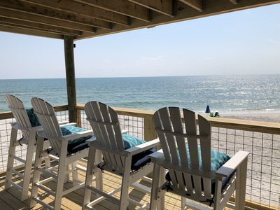 Photo for Gulf Front- Immaculate 3 BR condo- 50 steps to the water!