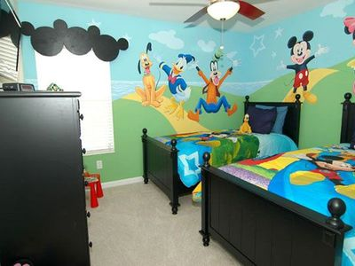 Photo for Theme rooms, 6 BR/4 BA Villa, Sleeps 14, 3 Miles To Disney Attractions!