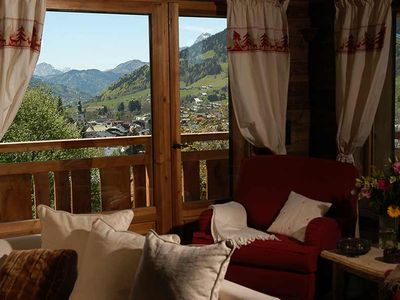 Photo for Megeve sumptuous 10p cottage near the center, jacuzzi, lcd, view