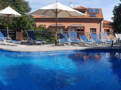 Photo for Apartment with pool for 6 people 150 meters from the Beach 1st floor