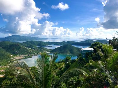 Photo for ⭐️⭐️ ⭐️ ⭐️ ⭐️  Breathtaking endless Views of the BVI's and Coral Bay!