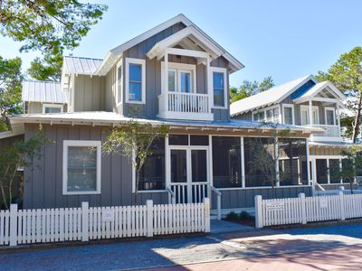 Photo for Artfully Rebuilt 5 BR in Seaside, 2 King Masters
