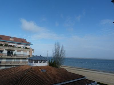 Photo for T2 apartment in luxury residence on the seafront with direct access to beach Eyrac