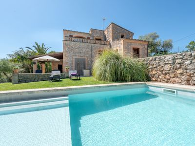 Photo for Rustic finca with Pool, Garden, Wi-Fi, Air Conditioning and Balcony; Parking Available