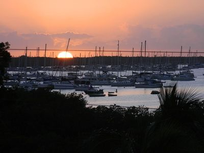 Photo for Cozy 1/1 condo on top floor with gorgeous views of Boot Key Harbor