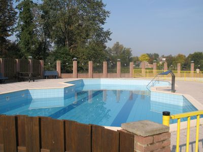 Photo for Charming chalet at 5 km from the seaside, with swimmingpool and playground