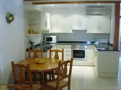 View of new kitchen from the lounge