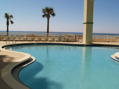 Gulf side swimming pool