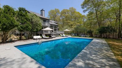 Photo for Sunlit & Secluded Sag Harbor Home on 10 Acres w/ Heated Pool, Hot Tub, Tennis & Basketball Courts