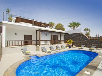 Photo for This exceptional modern, air conditioned villa is situated on the cliff top of the Old Town and boas
