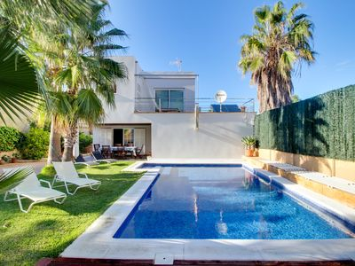 Photo for Expansive, modern Mallorca villa with private pool & hot tub!