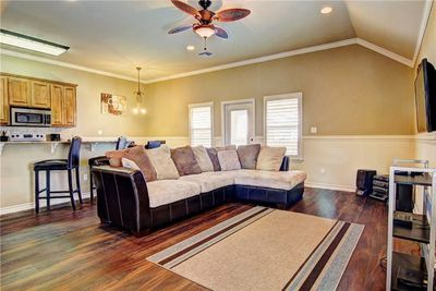Living Room - Welcome to Port Aransas! A large sectional offers ample seating in the living room.