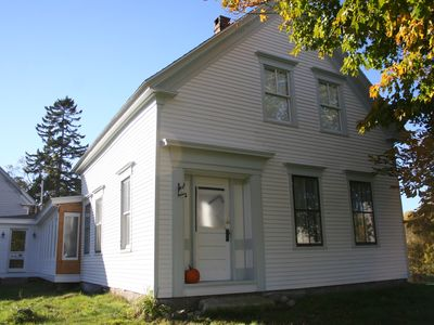 Front of Waldoboro woods house