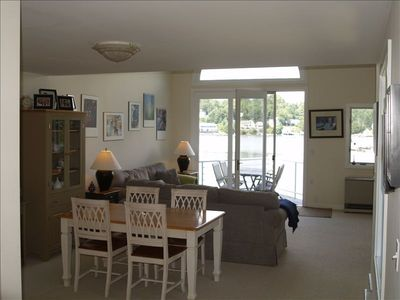 Living space is open and bright. Easy summer breeze off the water.