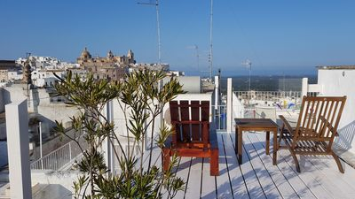 Photo for Lux & elegant home with panoramic rooftop terrace steps from Ostuni main piazza