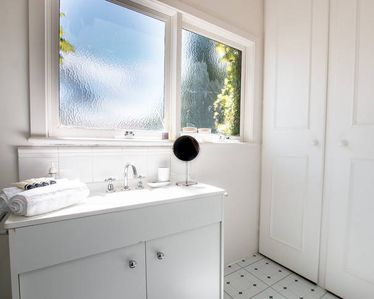 1st level shower room - bright and sunny