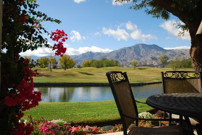 Patio with amazing views!! Table & chairs for 4, bench seating for 2 & 2 lounges
