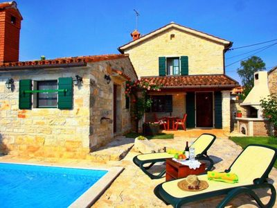 Photo for Villa Bassi is a traditional restored stone house in the small village of Basici