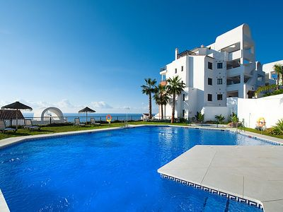 Photo for Apartment in Torrox Coast, front seaview  in Torrox Costa, Costa del Sol - 4 persons, 2 bedrooms