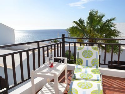 "Photo for Casa ""Palm"" Comfortable bungalow directly on the sea & beach in private complex - pool"
