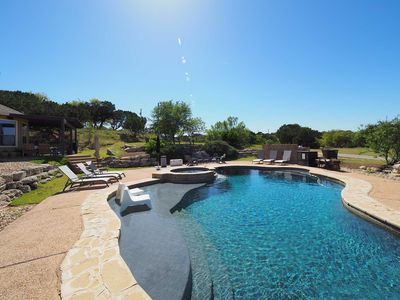 Photo for Central located in Dripping Springs-Pool, Wifi, 6 King Beds, Sleeps 13 adults