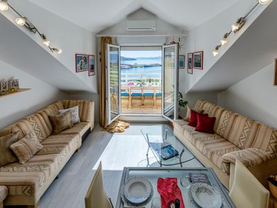 Photo for Beautifull attic over the sea and river coust, panoramic sea view