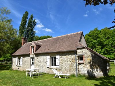 Photo for Unique holiday home on enormous country estate near woody Combreux in the historical Loire