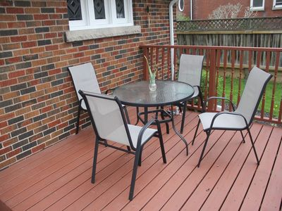 Rear deck at Eastwood Tourist Lodge