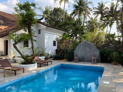 Photo for Exclusive Use VILLA LOU GOA 1903 Old Portuguese House with Pool