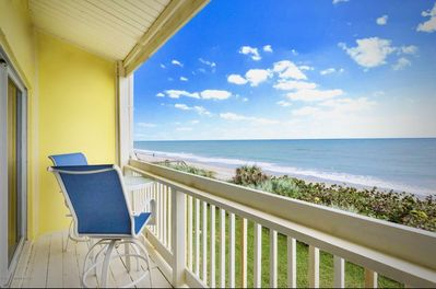 The crystal blue water a stone throw from your private deck.