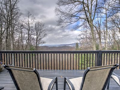 Photo for Just yards from the Blue Ridge Parkway with beautiful views and seclusion! Incl Biltmore!