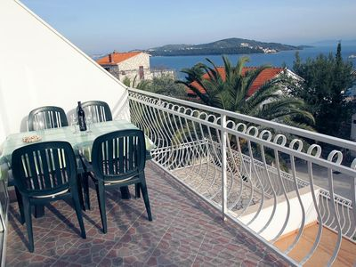 Photo for Three bedroom apartment with balcony and sea view Seget Vranjica (Trogir)