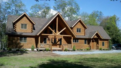 Photo for Beautiful Log Cabin Home in Catskills