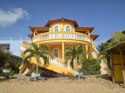 Photo for Luxury, Beachfront, Lower Villa at Blue Parrot Beach House