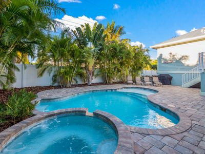 Photo for Surf's Up: New Designer Beach House, Heated Pool & Hot Tub, Short Walk to Beach!