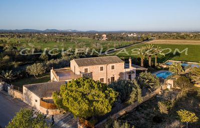 Photo for Can Barret, traditional Mallorcan finca for 9 people with pool