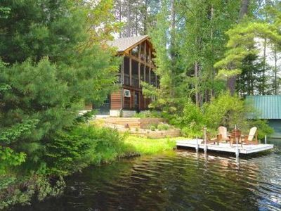 Photo for Rainbow Lake Front Retreat - Serenity Abounds!