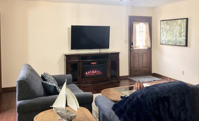 Direct TV, internet, 50'HD TV, cozy electric fireplace with  LED display