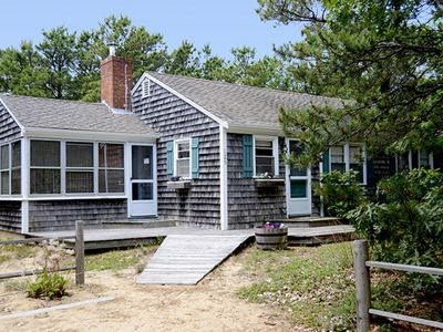 Photo for NEW LISTING! Charming Cape Cod cottage 500 feet to beach w/ deck & hammock!